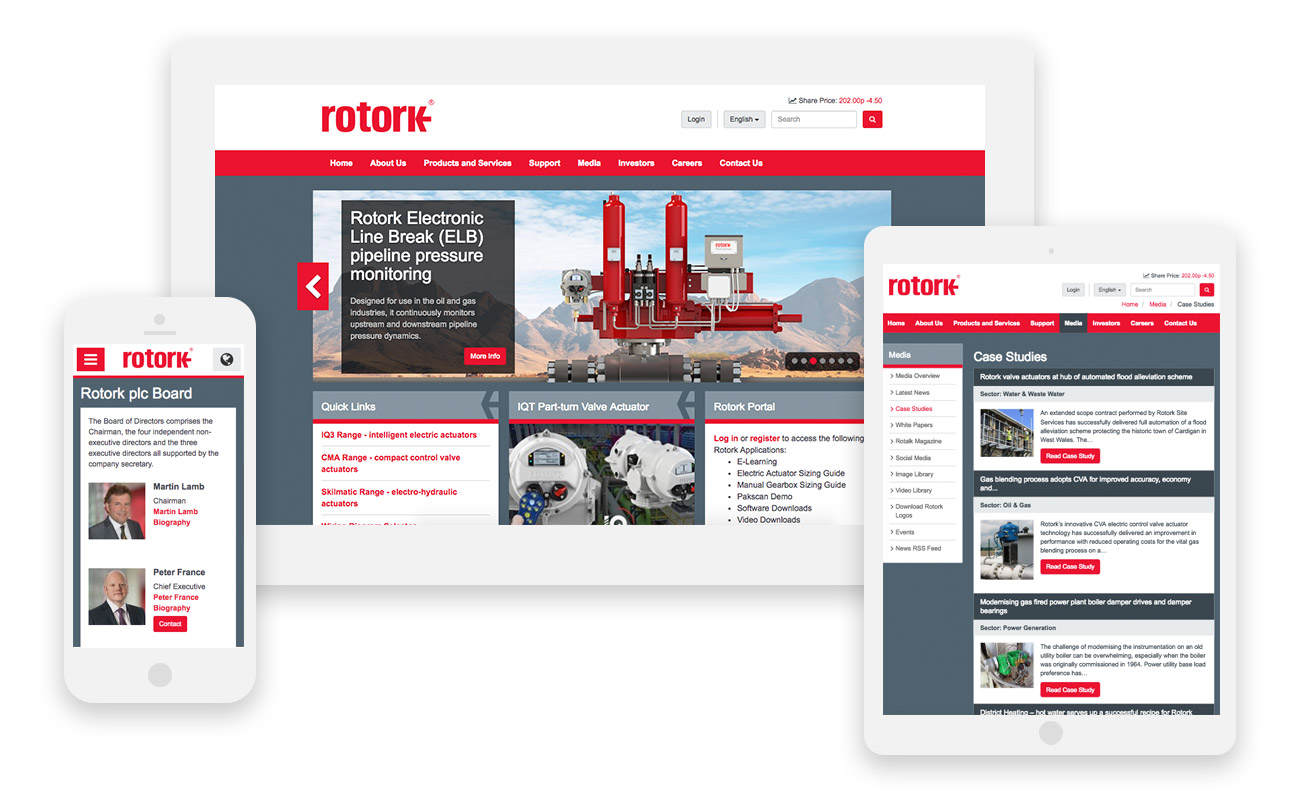 Rotork Mobile Responsive Website by Boson