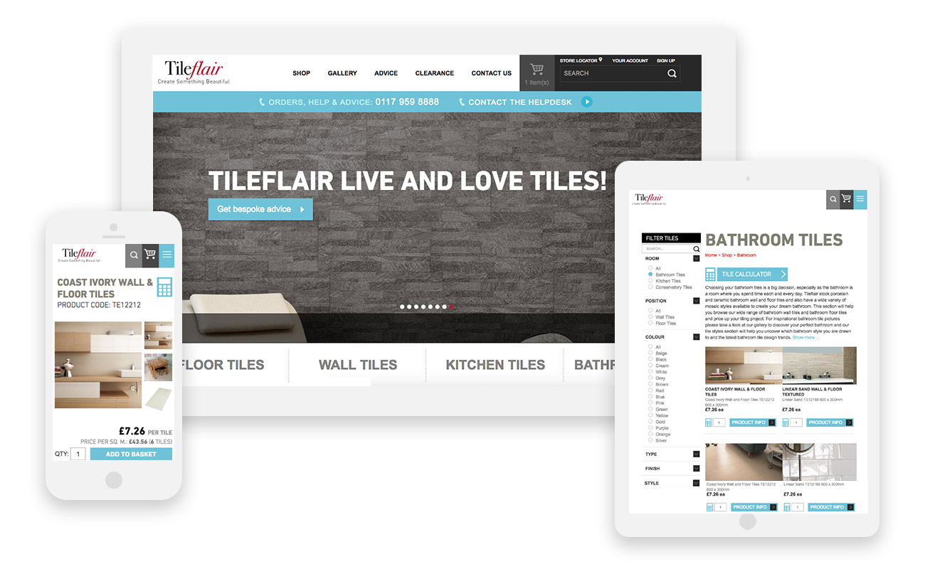 Tileflair Mobile Responsive Website Wiltshire