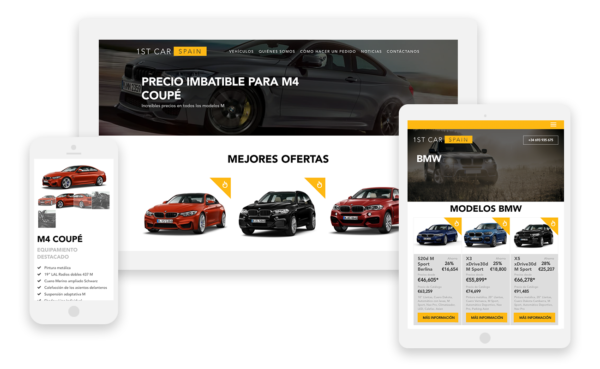 1st Car Spain Website - multilingual WordPress website