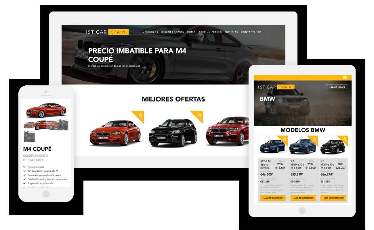 1st Car Spain Website - multilingual WordPress website