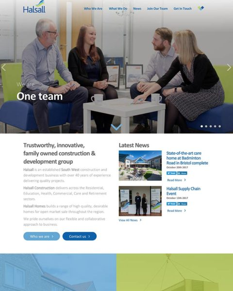 building company wordpress website design