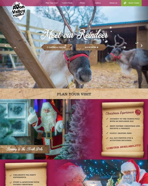 christmas wordpress website design