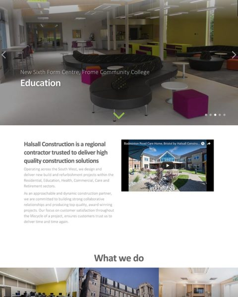 construction company wordpress website design