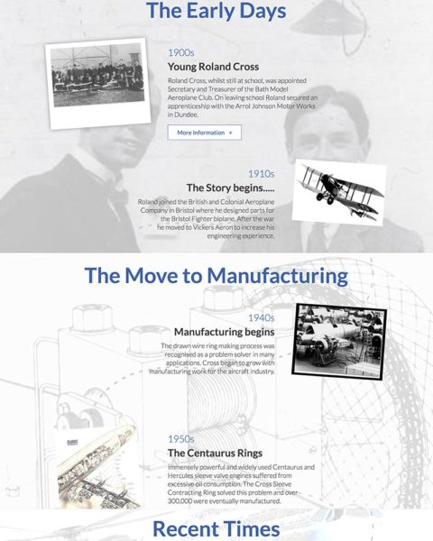 cross manufacturing wordpress website design