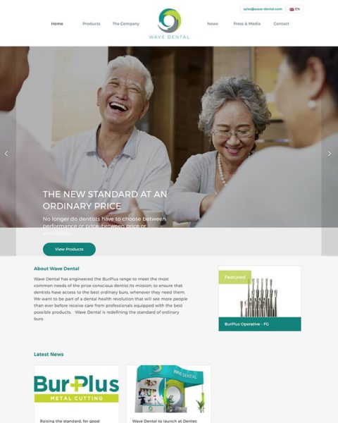 dental manufacturing wordpress website design