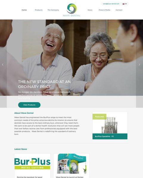 dental manufacturing wordpress website design