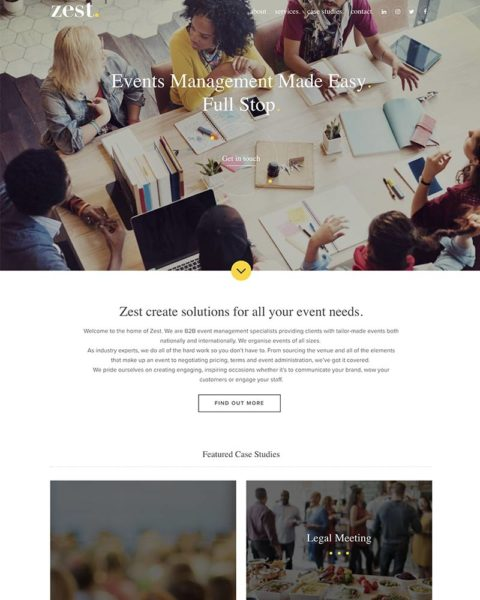 events company wordpress website design