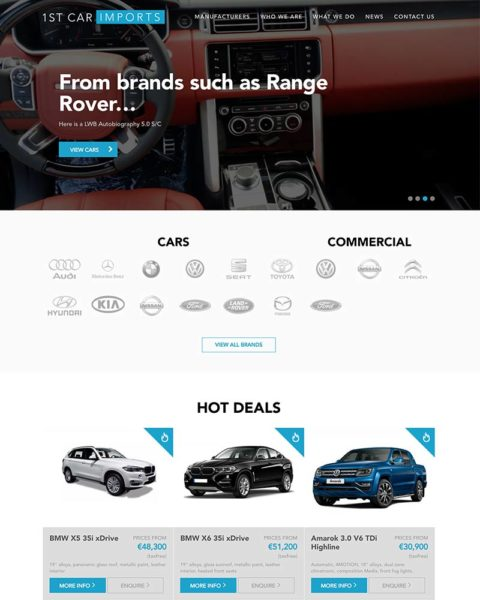 Automotive wordpress website design