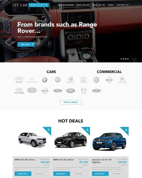 Automotive wordpress website design