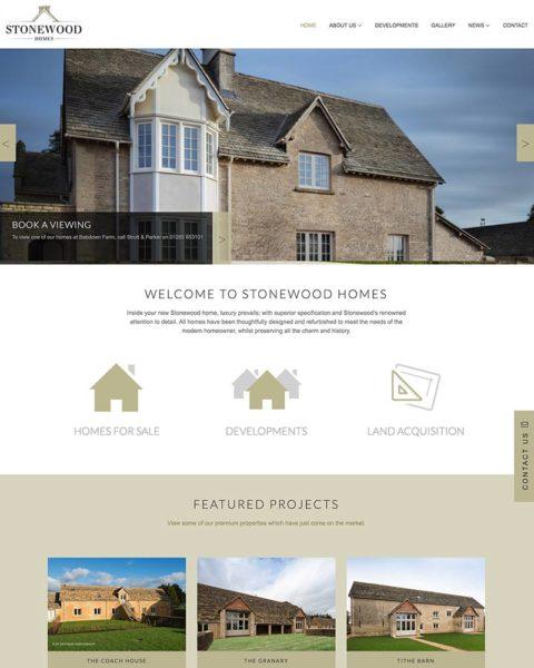 Housing developer company website design