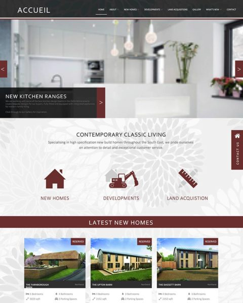 Housing developer website design