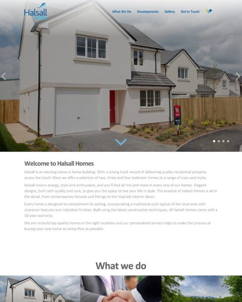 housing developer wordpress website design