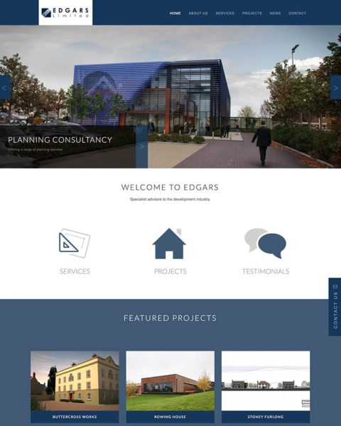 Housing development consultants website design