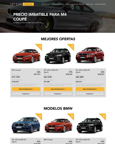 international car import company wordpress website design