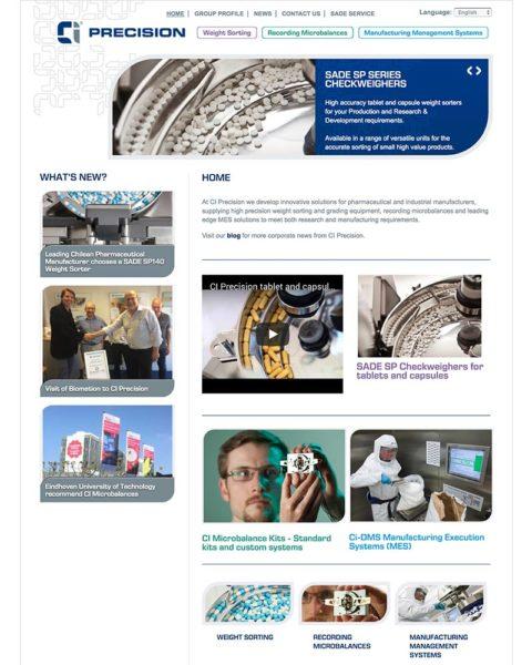 Manufacturing website design
