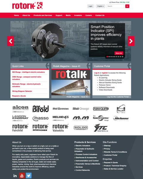rotork manufacturing website design