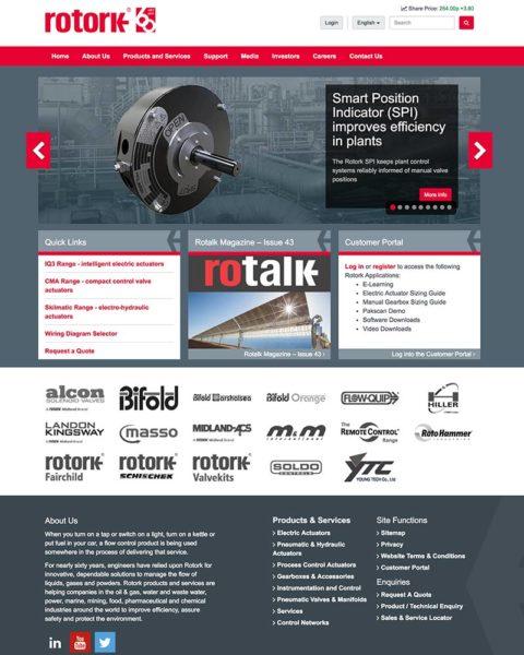 rotork manufacturing website design