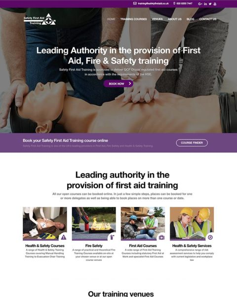 training company wordpress website design