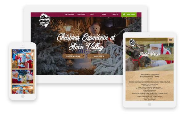 Avon Valley Christmas Experience Website - Boson Web specialising in WordPress websites in the South West, Bath, Bristol, Bradford-on-Avon