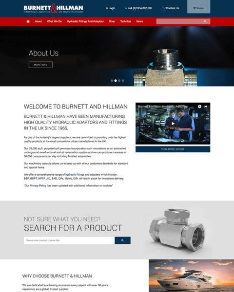 business manufacturing website design