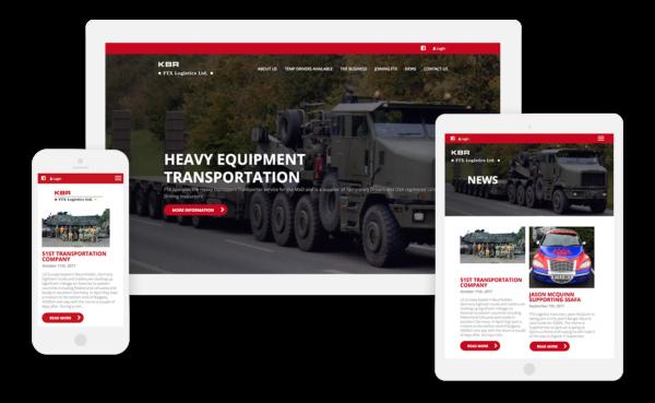 FTX Logistics - New WordPress Website, designed and built by Boson Web, Bristol, Bath company web design