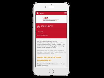 FTX Logistics - Website design and development - Recruitment Website design. Designed and built by Boson Web, Bath, Bristol, London