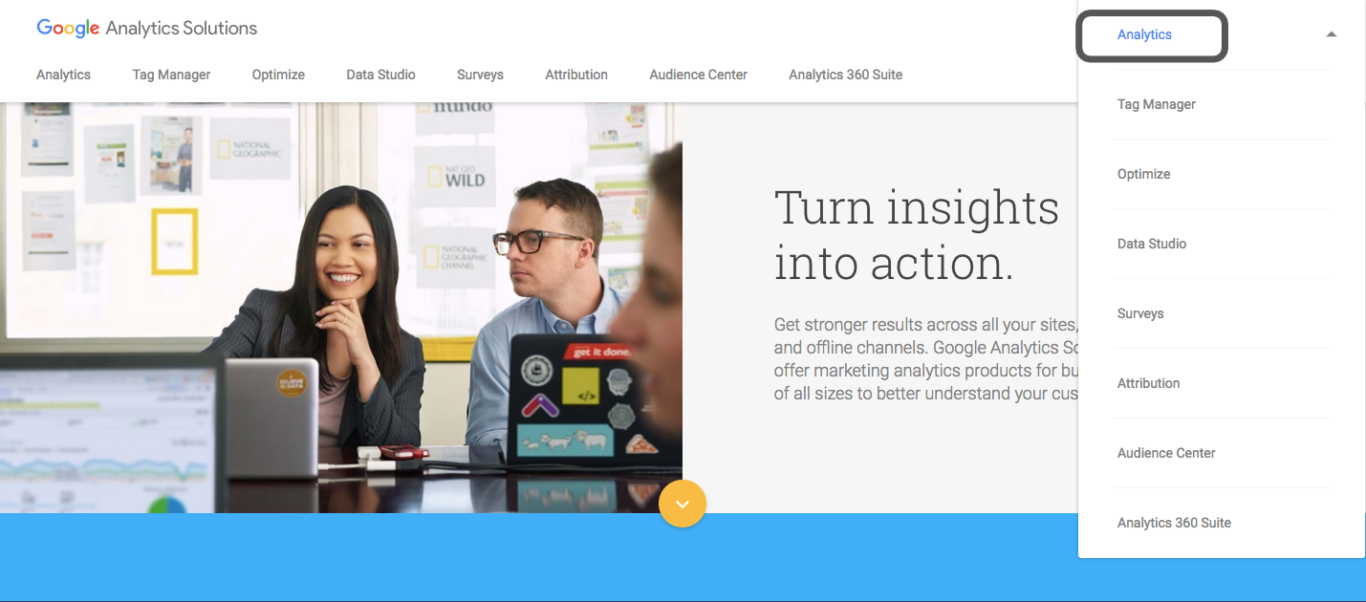 How to transfer a google analytics account to another user profile or email address? - Step one. Boson Web, web agency in Wiltshire, Bath, Bristol
