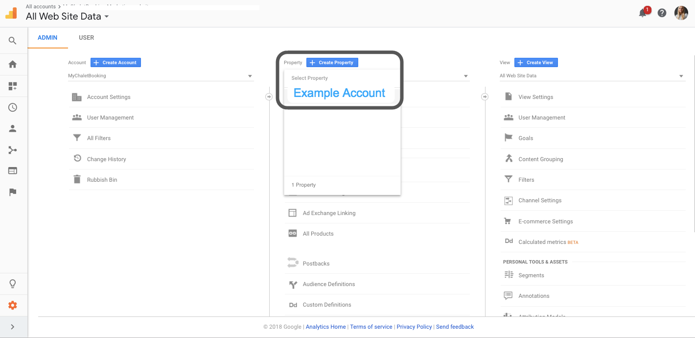 How to transfer ownership of a Google Analytics account