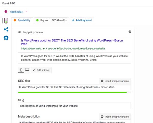 Yoast SEO - WordPress Website - The SEO Benefits of WordPress. Is WordPress good for SEO?