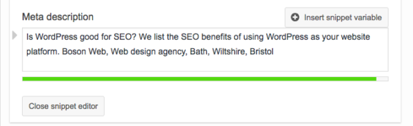 Meta Descriptions on WordPress - Is WordPress good for SEO? The SEO Benefits of WordPress