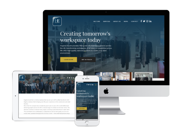 We built Hughes Escott 2 new websites, electrical and fittings in Wiltshire, Bath, Bristol. Boson Web worked with Hughes Escott to design a website they are proud of. The website is built on WordPress
