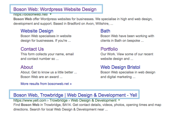 Title tags and SEO - The website performance Report - Boson Web